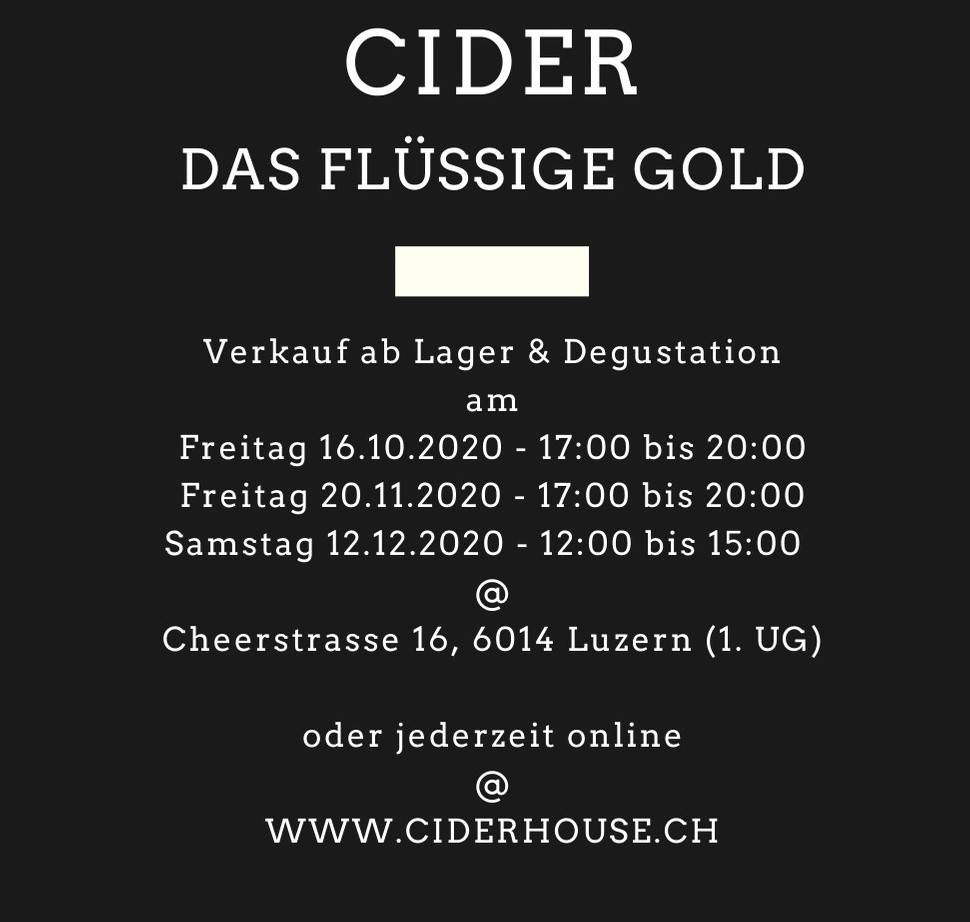 Ciderhouse.ch Events